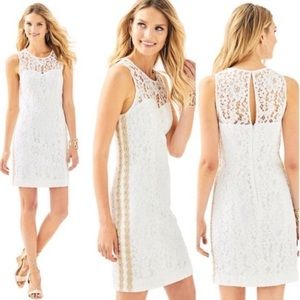 Lilly Pulitzer Mila Shift Resort White Size 10 NWT